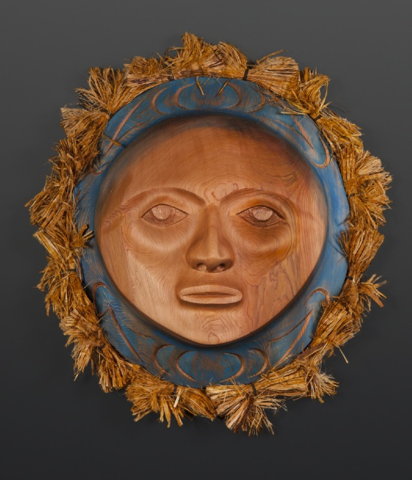 blue moon mask Darren Joseph Coast Salish Red cedar cedar bark