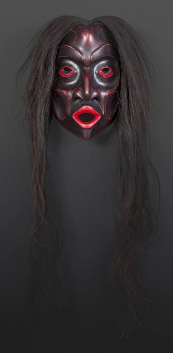 Dzunukwa Gary Starr Kwakwaka'wakw wild woman of the woods Red cedar horse hair