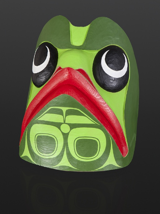 Corey Moraes Tsimshian frog Red cedar paint