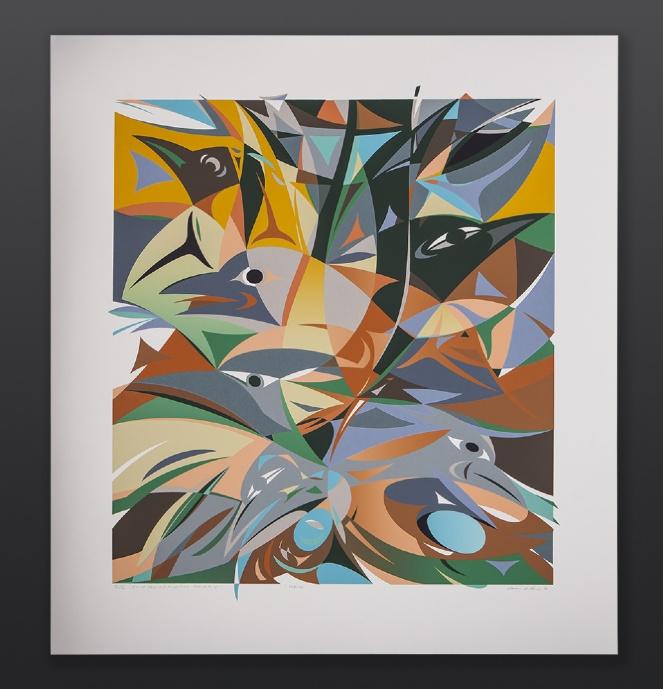 Susan Point Coast Salish Robins Series II/II Serigraph print