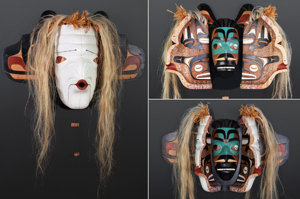 Pook-mis and Oosh-tug-yoo Moy Sutherland Nun Chah Nulth transformation mask