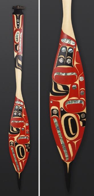 Eagle Paddle Moy Sutherland Nuu-Chah-Nulth Thunderbird Paddle
