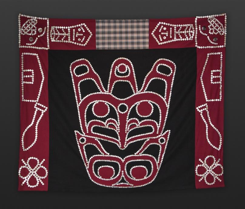 Maxine Matilpi Kwakwaka'wakw orca button blanket
