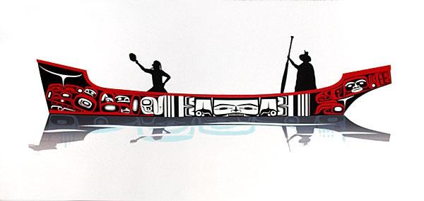 Mark Preston Tlingit Serigraph Welcoming Limited Edition