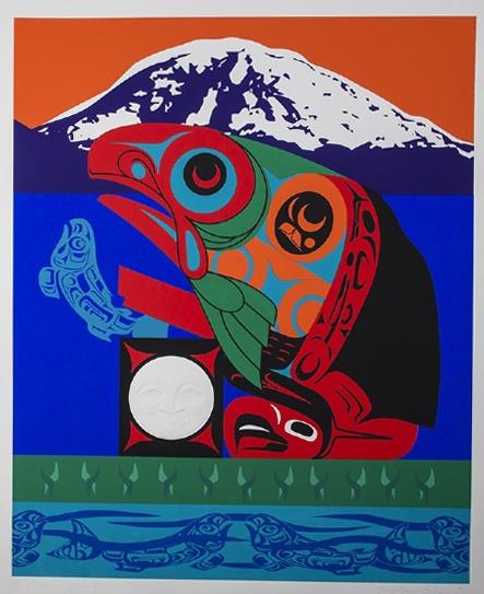 Marvin Oliver – Quinault Rivers Spirit print silkscreen