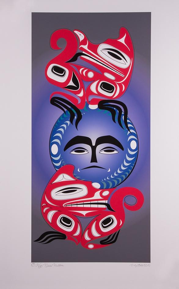 New Moon John Goodwin Nytom Limited Edition Print Northwest Coast Art