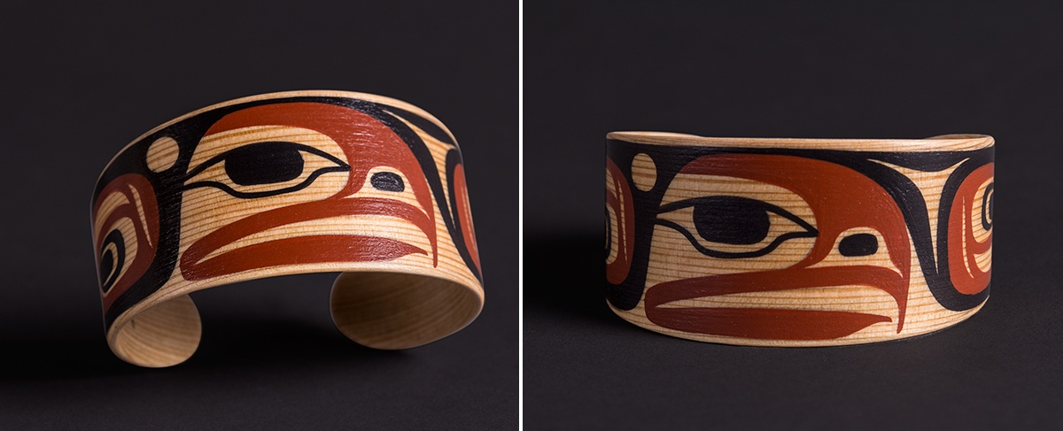 Steve Smith Kwakwaka'wakw Oweekeno Maple 6 x 1½ jewelry original sculpture contemporary northwest coast native art