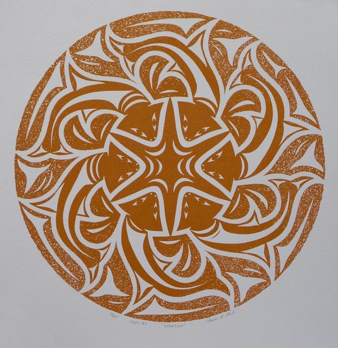 Susan Point Coast Salish Serigraph Limited Edition of 65 13 x 13 700
