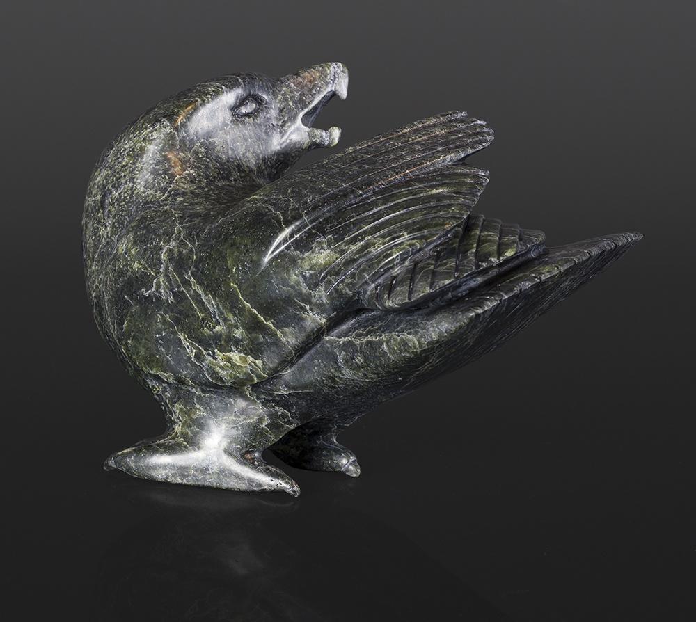 Raven Ejetsiak Pitsiulak Inuit Serpentine