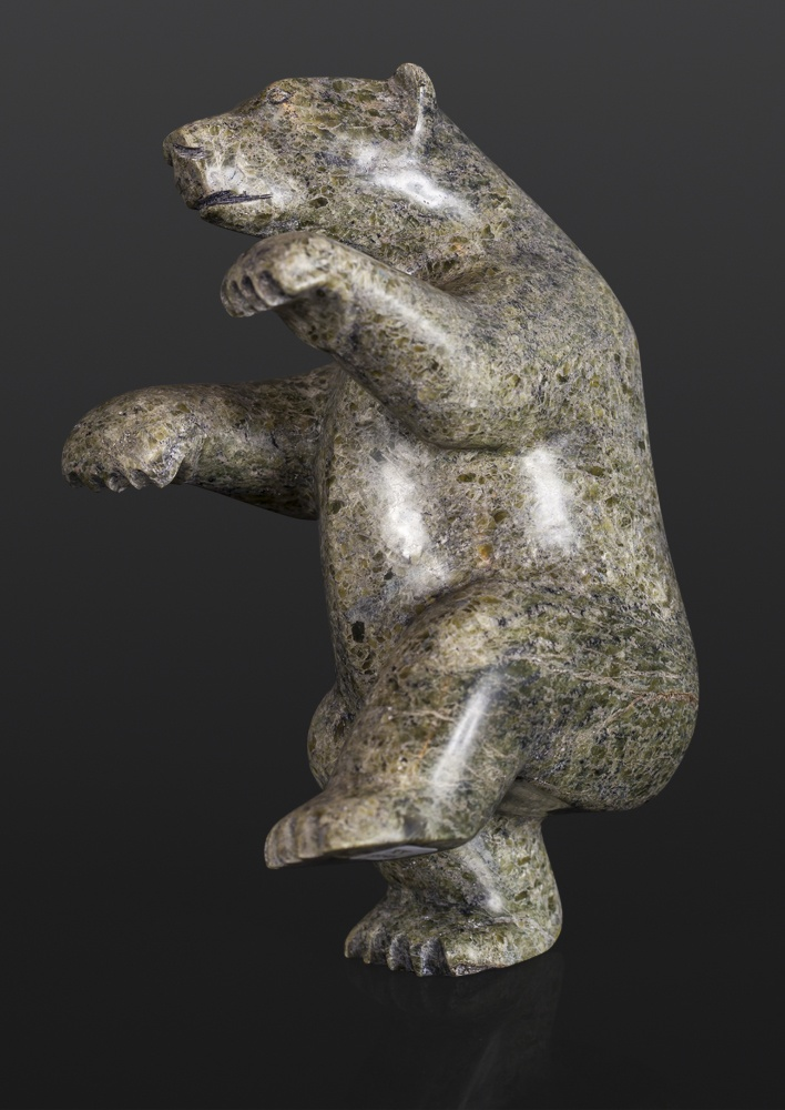 Dancing Bear Kooyoo Peter Inuit Serpentine