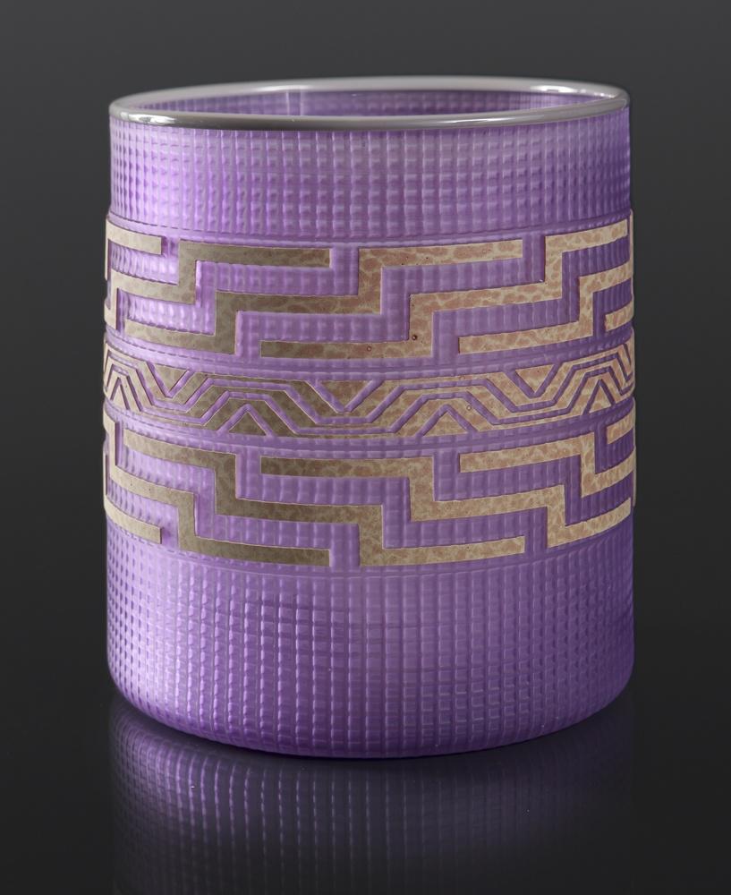 Violet Basket Tlingit Preston Singletary Blown & sand carved glass 9¼ x 8 8000 glass native art Seattle