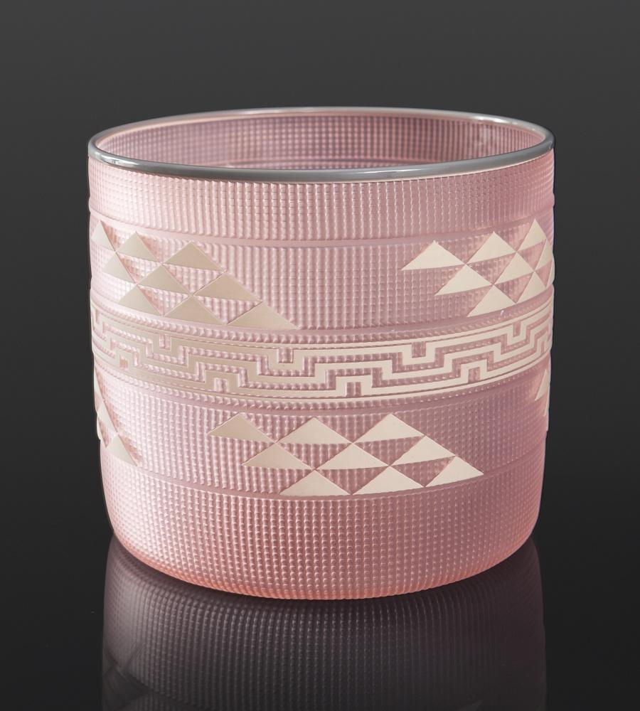 Salmon Basket Preston Singletary Tlingit Blown & sand carved glass 8 x 9 8000