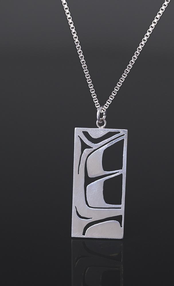 Grant Pauls Tahltan Silver, silver chain 1 1/4 x 1/2 145
