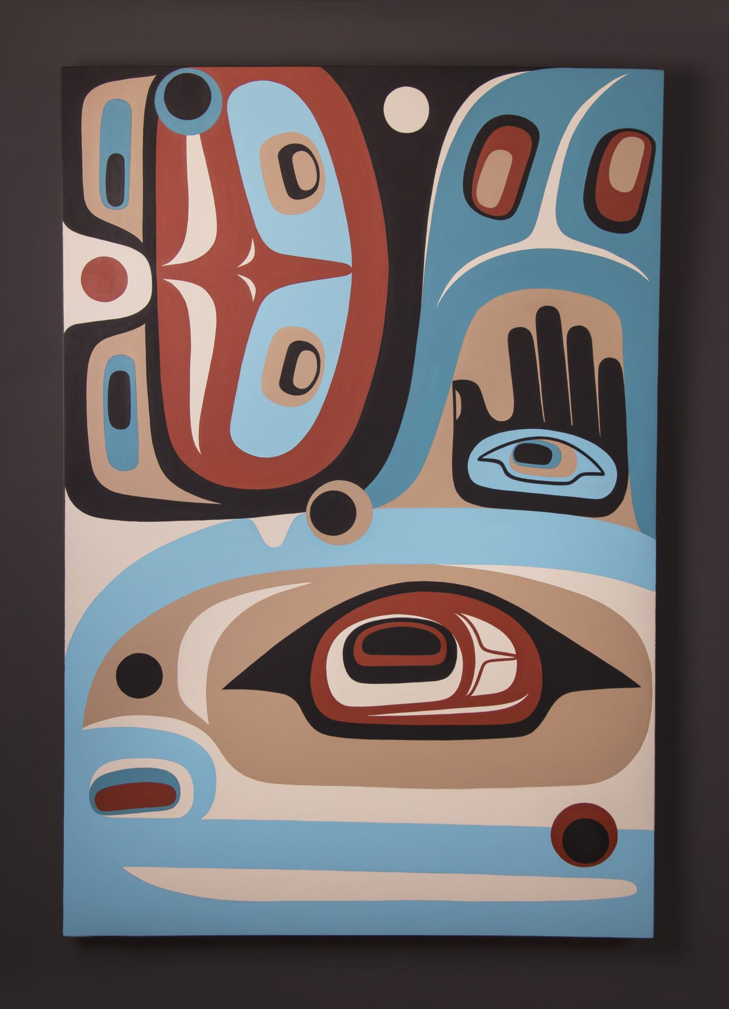Abundance Steve Smith - Dla'kwagila Oweekeno Acrylic on birch panel 36 x 24 original painting northwest coast native art