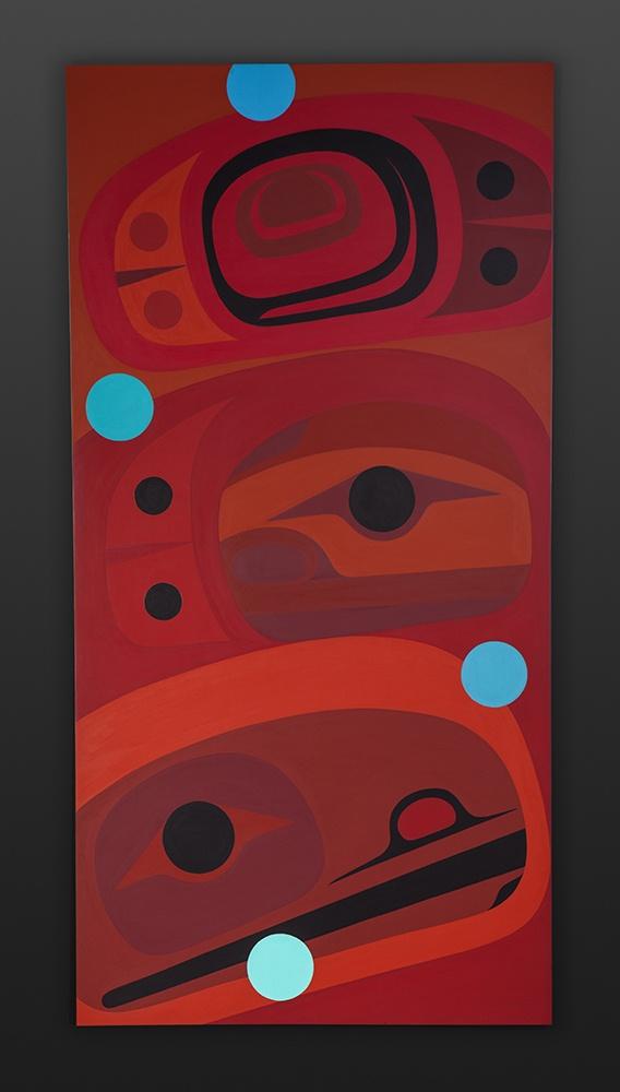 Love Steve Smith - Dla'kwagila Oweekeno Acrylic on birch panel 24 x 48 native art northwest coast contemporary original painting