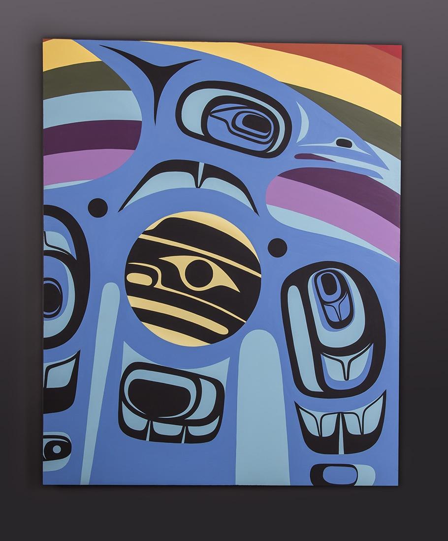 Equality Steve Smith - Dla'kwagila Oweekeno Painting on panel 24 x 30 original painting northwest coast native art