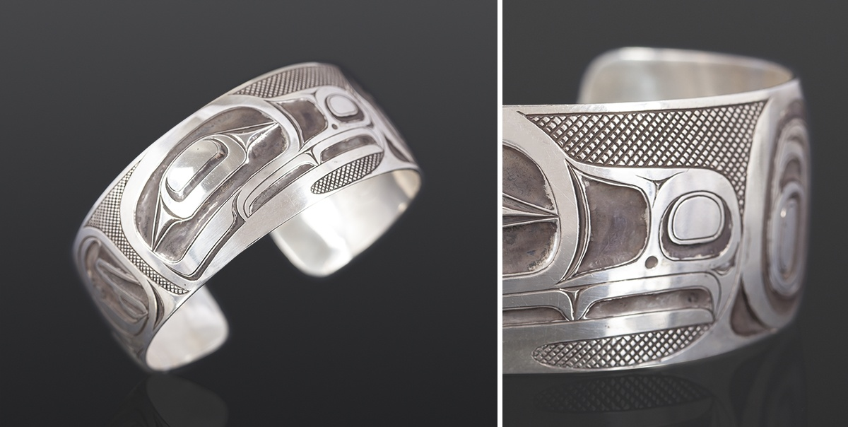 Eagle bracelet Corey Moraes Tsimshian Oxidized silver 6 x 1 1900 jewelry northwest coast native art