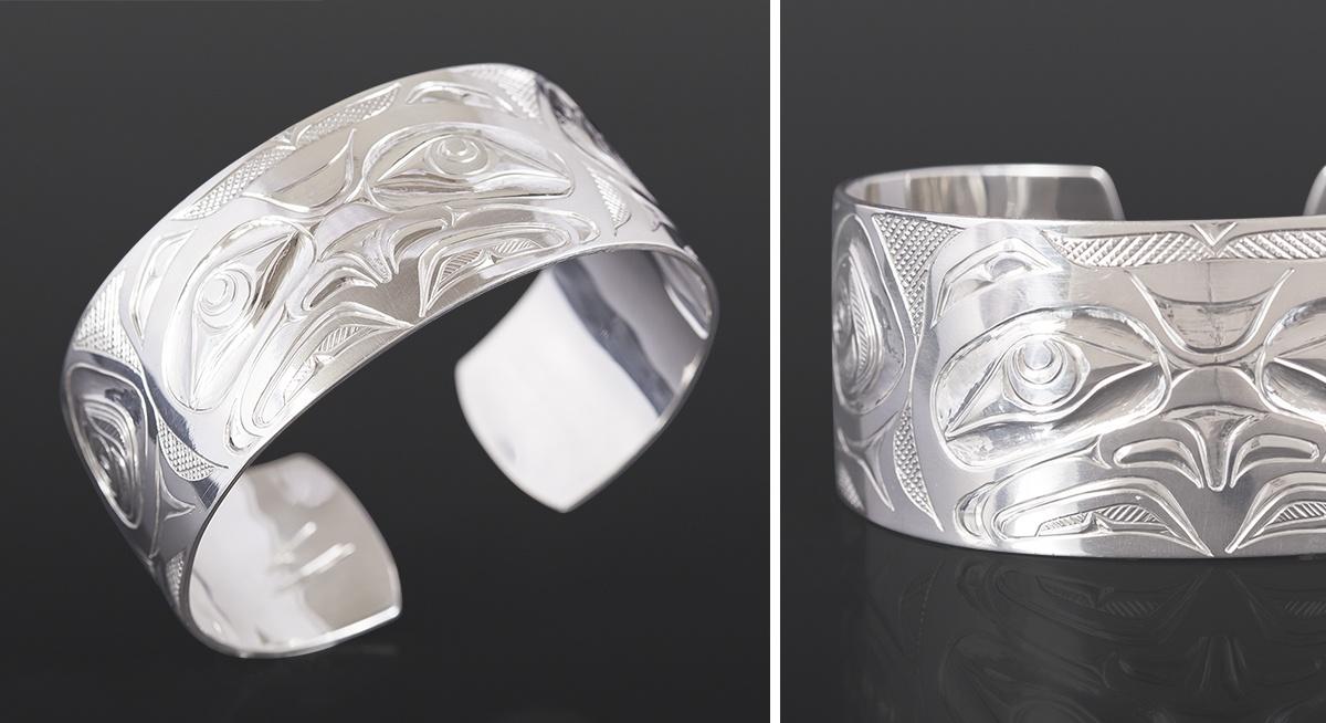 Eagle bracelet Kelvin Thompson Saulteaux Silver 6 x 1 600 jewelry northwest coast native art