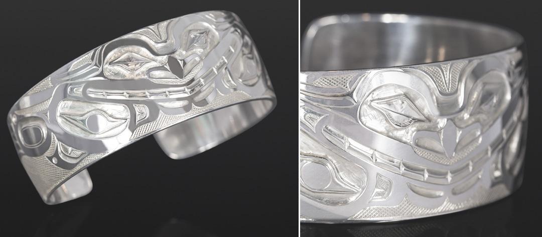 Wolf Spirit bracelet Allen Thompson Saulteaux Silver 6 x 1 900 jewelry northwest coast native art
