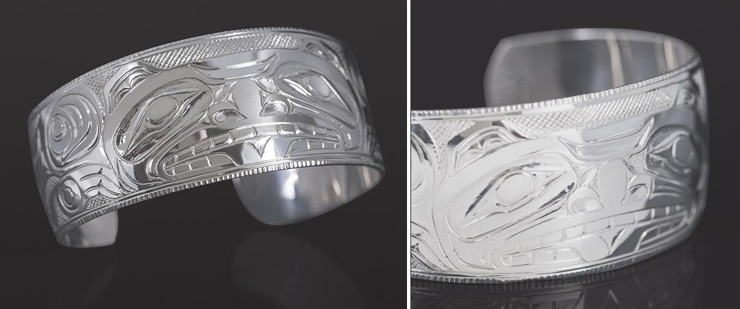 bear bracelet Kelvin Thompson Saulteaux Sterling silver 6 x 1 700 jewelry northwest coast native art