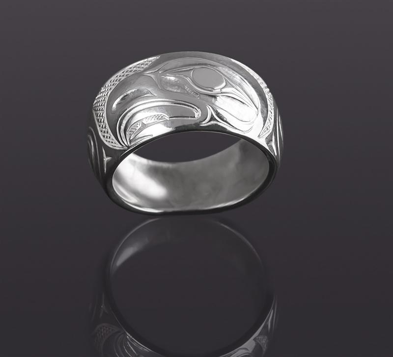 eagle ring Allen Thompson saulteaux silver northwest coast native art jewelry