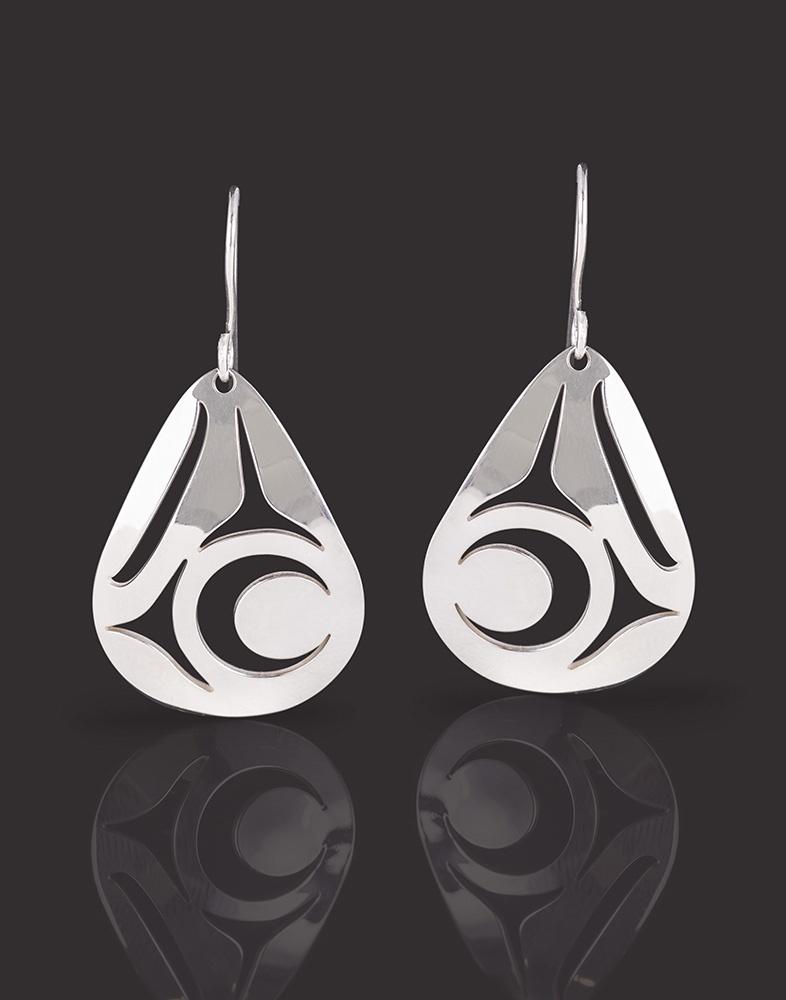 eagle earrings Lou-ann Neel Kwakwaka'wakw Silver 125 jewelry northwest coast native art