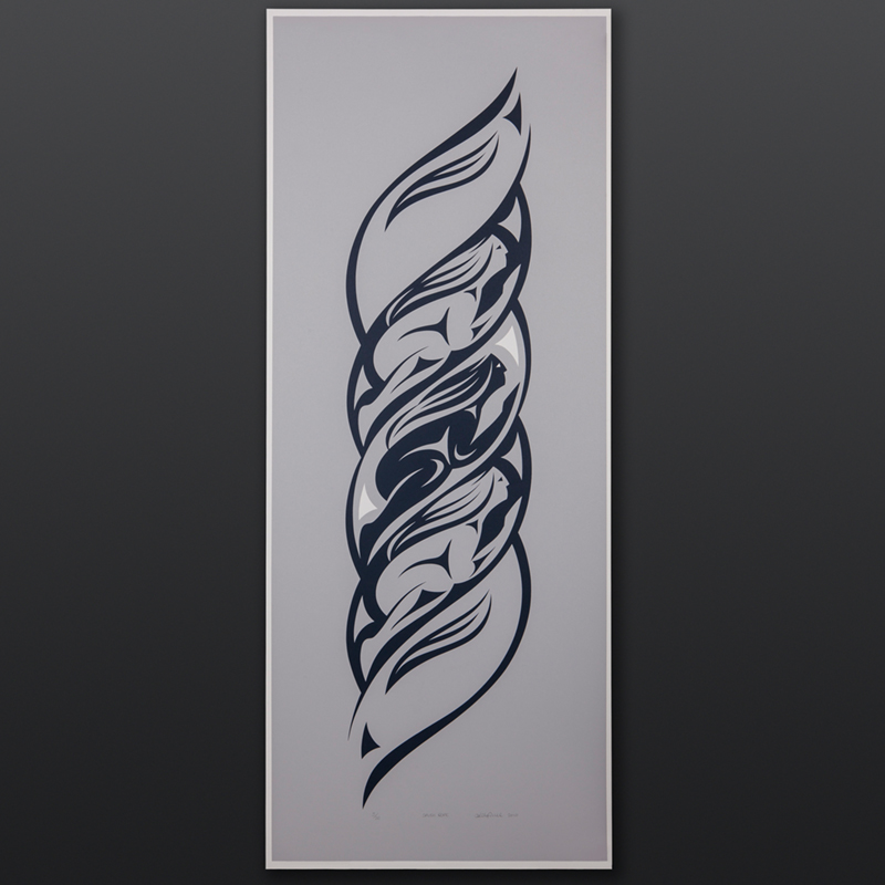Salish Rope Kelly Cannell Coast Salish Limited edition serigraph 14 x 36 400 northwest coast native art prints susan point