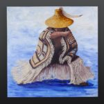 fringe about the body Jean Taylor Tlingit Acrylic on canvas 30 x 30