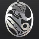 Louann Neel Kwakwaka'wakw Silver, silver chain 2 1/2 x 2 wolf native art jewelry northwest coast