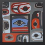 Intuition Steve Smith - Dla'kwagila Oweekeno Acrylic on birch panel 30 x 30 original contemporary painting northwest coast native art