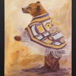 Jean Taylor Tlingit Acrylic on canvas 18 x 24 Come on and dance