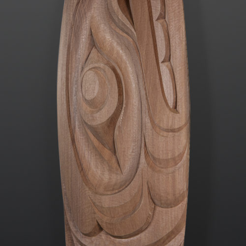Whale Paddle Raymond Shaw Kwakwaka'wakw Red cedar 66 x 6½ 3200 orca northwest coast native art contemporary