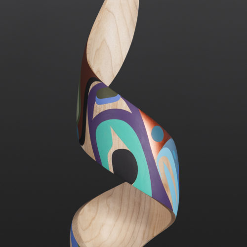 fulfillment steve smith dla'kwagila oweekeno turned maple paint 22 x 6 3500 modern art sculpture native art northwest coast