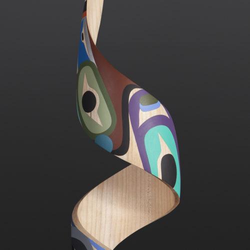 fulfillment steve smith dla'kwagila oweekeno turned maple paint 22 x 6 3500 modern art sculpture native art northwest coast