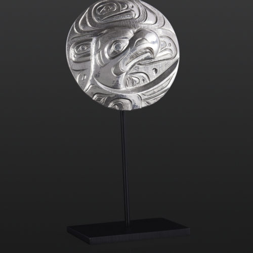 Eagle pendant Gus Cook Kwakwaka'wakw silver Repoussé jewelry pendant native art northwest coast 2 x 2 1400