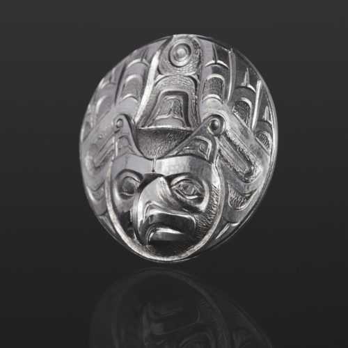 Thunderbird pendant Gus Cook Kwakwaka'wakw silver Repoussé jewelry pendant native art northwest coast eagle 1 1/2 x 1 1/2 1100
