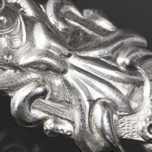octopus in U earrings earrings Gus Cook Kwakwaka'wakw silver Repoussé jewelry earrings native art northwest coast 2 x 1 1600