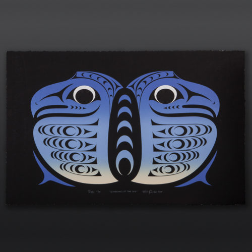 Guardians of the Sky Color Proof Kelly Cannell Coast Salish Color proof serigraph V of VI 18 x 28 400 coast salish northwest coast native art eagles