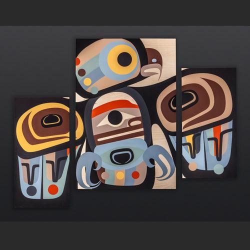Steve Smith - Dla'kwagila Oweekeno The Wise One Acrylic on birch panel painting 6500