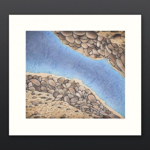 Morning Breeze Nicotye Samayualie Inuit Etching Aquatint Cape Dorset Prints 2017