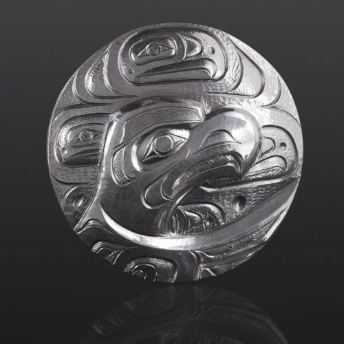 Eagle pendant Gus Cook Kwakwaka'wakw silver Repoussé jewelry pendant native art northwest coast 2 x 2 1400