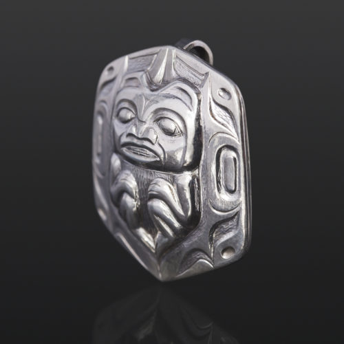 Bear Mother Gus Cook Kwakwaka'wakw Silver pendant jewelry repousse bear 1 x 1 1200