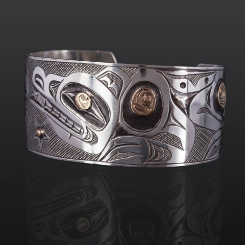 Wolf and the Night Sky Kelvin THompson saulteaux haisla silver and gold 6