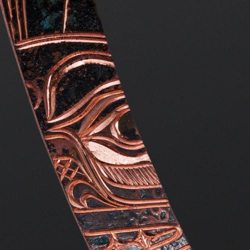 Sun Earrings Jennifer Younger Tlingit copper 2