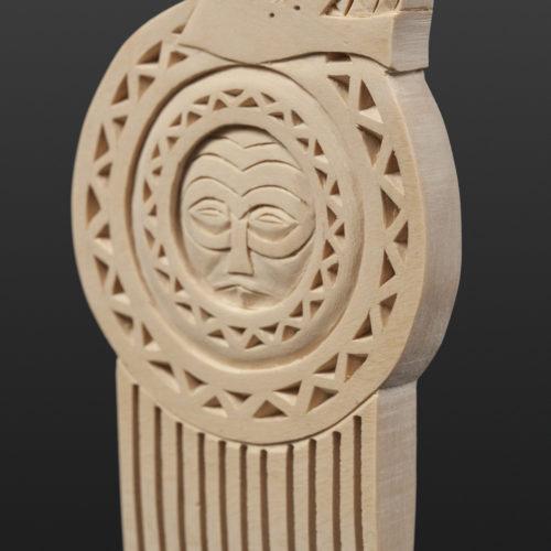 River Serpent Comb Greg Robinson Chinook Yellow cedar, custom stand 5
