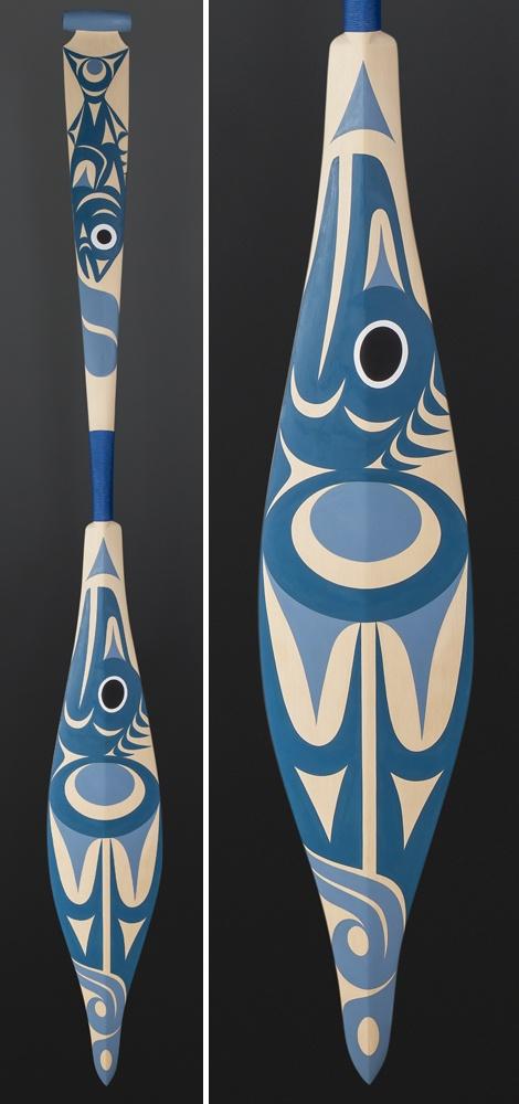 Maynard Johnny Coast Salish Kingfisher Yellow cedar paint cord 64 x 7 $1800