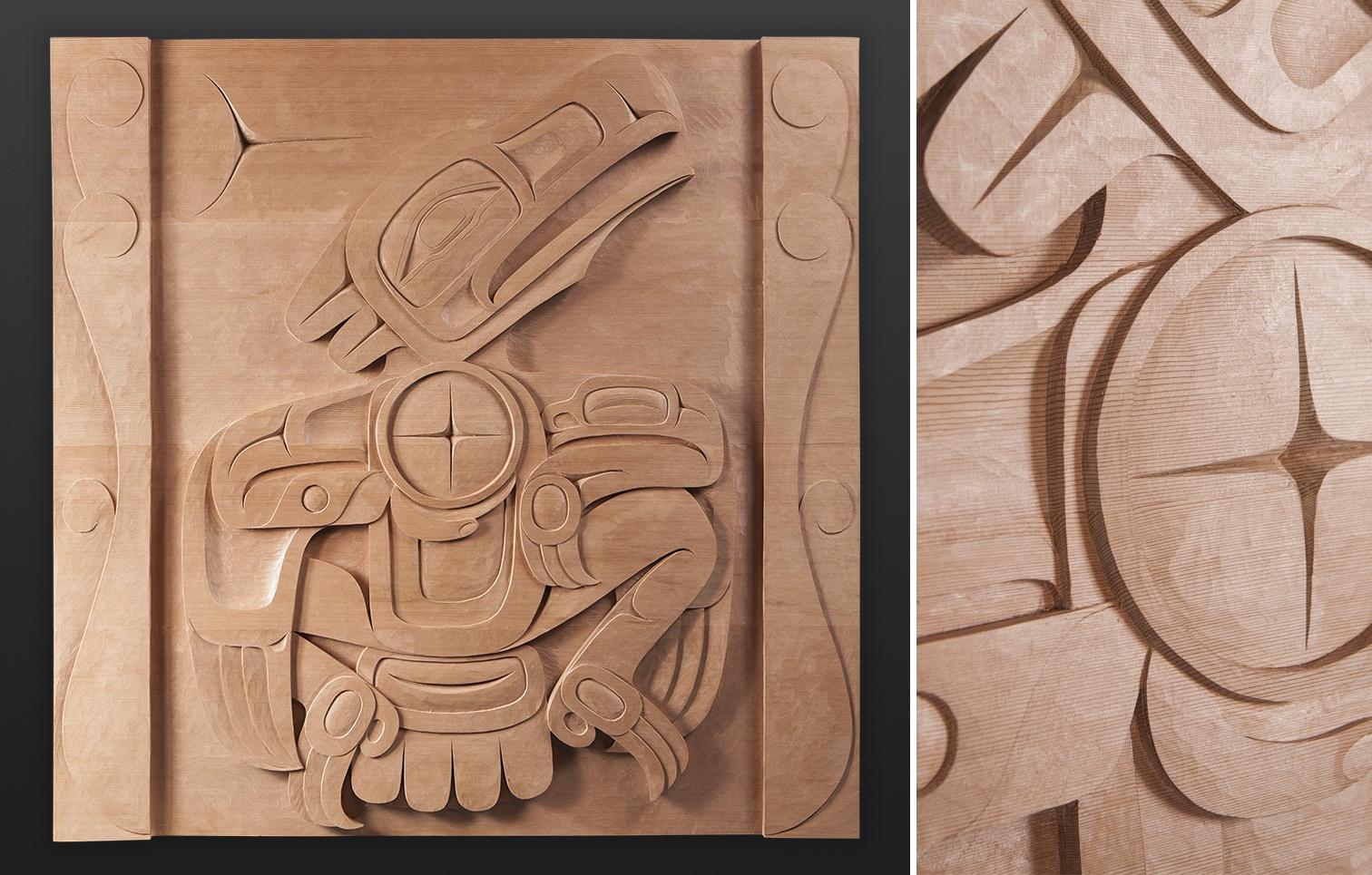 Gu-uwi Raven Dean Hunt Heiltsuk cedar panel 5500