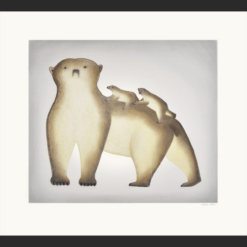 """cape dorset 2016 inuit print collection All Aboard Pitseolak Niviaqsi 31½"""" x 34"""""""