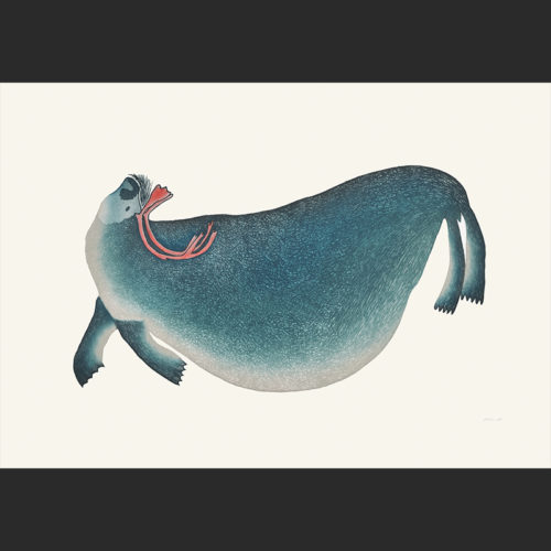Ningeokuluk Teevee Coastal Spirit cape dorset 2016 print collection inuit $960