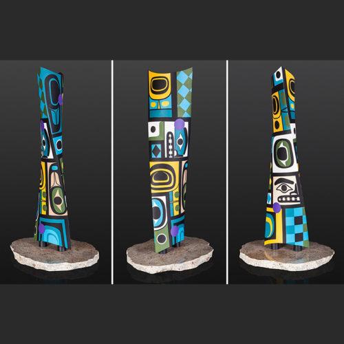 Steve Smith - Dla'kwagila Oweekeno Chilkat Inspiration Acrylic maple 6400